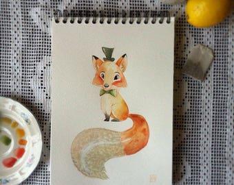 Original design Fox - watercolor