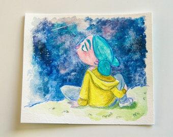 Mini World - sky - Illustration - original watercolor