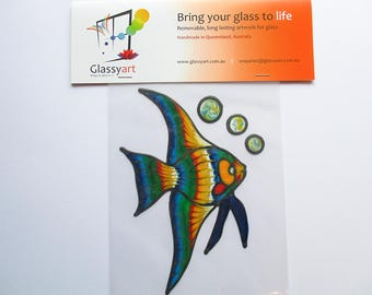 Angelfish Long Patterns - Glassyart Cling Suncatchers Create your Own Window Aquarium