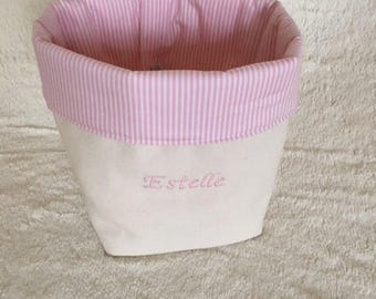 Pouch customized for the baby changing table