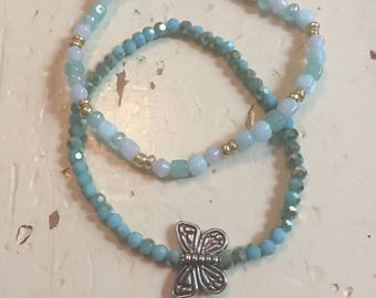 Set of 2 butterfly bracelets