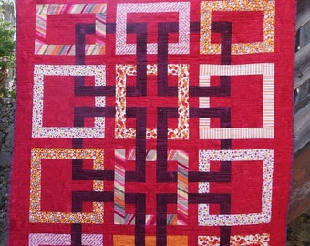 """Patchwork collection """"Orangeade"""" painting"""