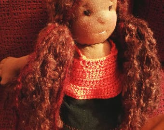 Dressed doll Brown (made to order)