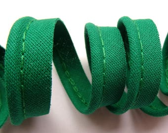 4 m 10mm Green cotton piping