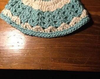 Handmade crochet newborn cap