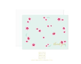 C103 Mini Rose Note Cards