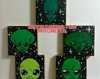 Alien Refrigerator Magnets