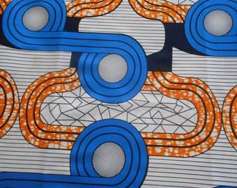 Wax fabric African loincloth coupon 45cm x 55cm