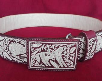 Artisan Hand Stitched Belts - Cinto Pitiado Pita Fina - Charro