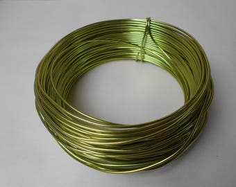 Lime Green Aluminum wire - width 2 mm - length 1 meter