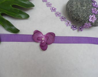 Bracelet child or baby - and Parma violet - Orchid