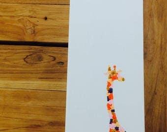 Giraffe Canvas painting safari Gold orginal Acrylic artwork