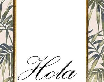"""Spanish """"Hola"""" PRINT"""