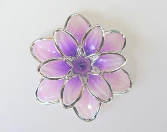 Purple large flower bead