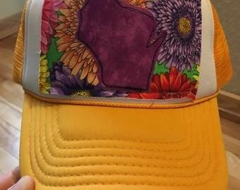 Gold Wisco Love Trucker Hat