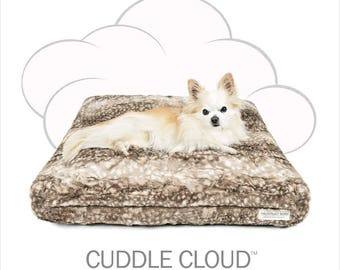 "Peluche Plush Cuddle Cloud Bambi Dog Bed - 24"" Square"