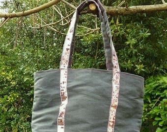 Gray and pink style tote bag v.b.
