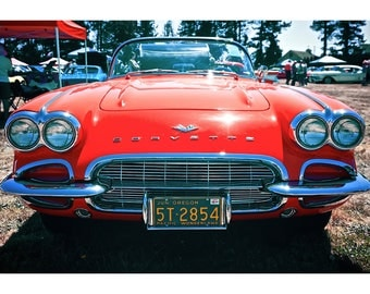 1961 Chevrolet Corvette Convertible - Car Poster - Car Print - Sports Car Photo