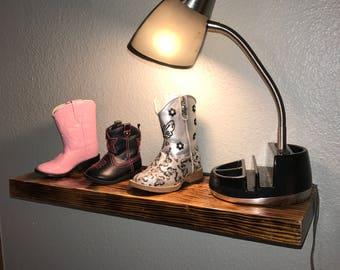 Handmade Reclaimed Wood Floating Shelf