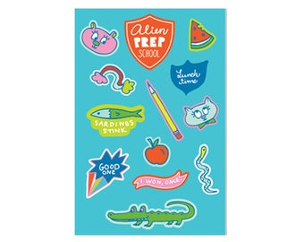 Prep School Stickers