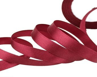 Dark Red satin ribbon 12mm