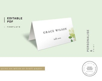 Seating Card, Wedding Place Card, Place Card Template, Instant Download, Seating Card Template, Place Card, Rustic Seating Card,