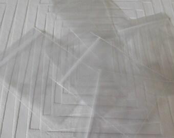 Set of 20 bags transparent zip closure