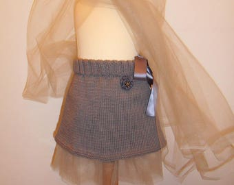 Princess gray skirt for girls 12-18 months