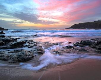 "Cornwall landscape photo: ""Poldhu Sunset"""