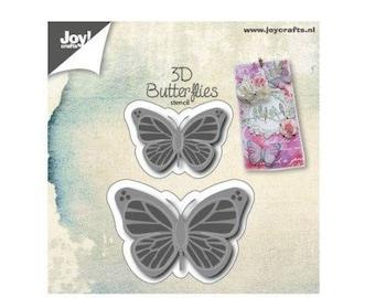 Die cut 2 butterflies Stencil 3D new Crafts Joy