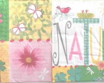 paper x 20 - NATURE flowers snails REF.  3569