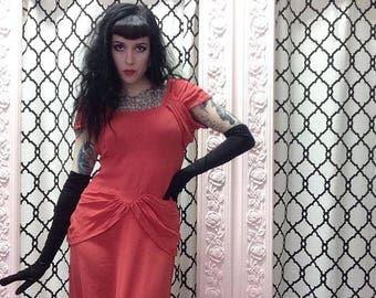Vintage 1940s Crepe Dress