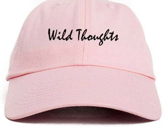 Wild Thoughts Dad Hat Adjustable Baseball Cap New - Pink