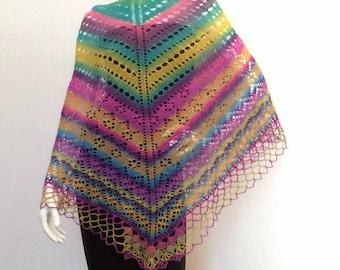 """horizon"" knit shawl"