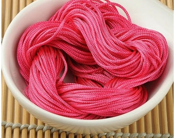 Wire macrame pink craft about 30 meters