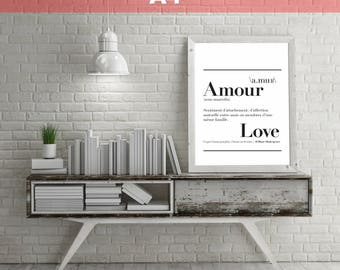 "Definition of ""Love"" - A4 size poster. 21 x 29.7 cm"