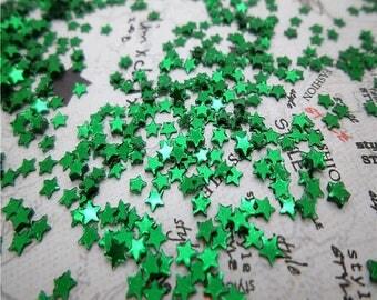paillettes étoile vert foncé lot de 2000