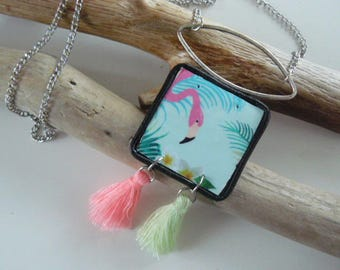 "Pendant necklace ""the Flamingo"""