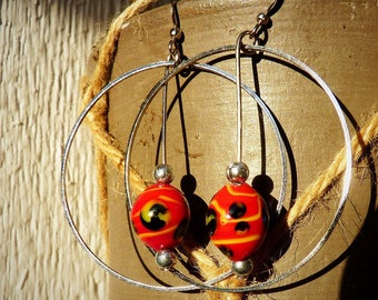 Samba red earrings