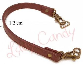 Handle shoulder bag Tan faux leather 34 cm #330036