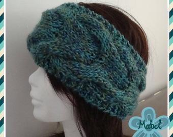 Heather, warm and soft turquoise twist headband