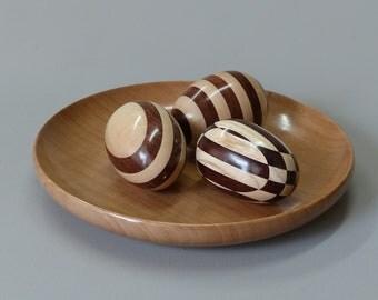 Turned wooden Easter eggs