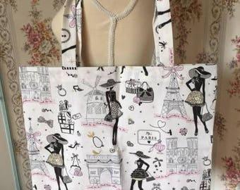 "handmade bag tote bag ""Paris"""