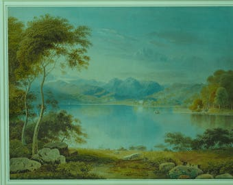 William Turner of Oxford - original watercolour of Lake District scene