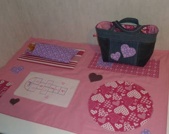 Doll bag and matching the playmat