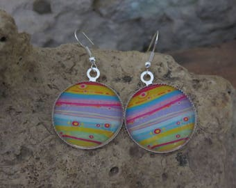 """Silver earrings """"collection series of lines"""""""