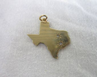 Vintage Vinardi Gold Filled & Jeweled State Texas Charm Bracelet Charm