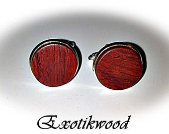 Cocobolo wood cufflinks