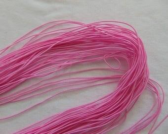 Elastic in hat, pink, 1 mm diameter