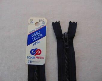 Navy zipper, metal, blue, 10 cm (Z11 570)